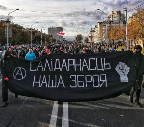 Black Bloc March Takes Place in Minsk