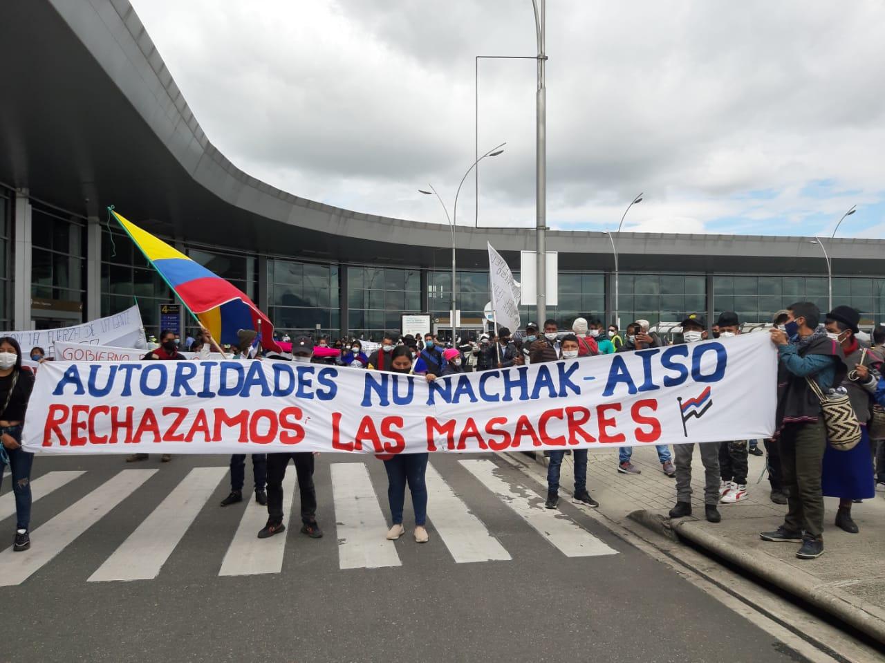 Misak Tribe Occupies Airport in Bogota to Protest Massacres