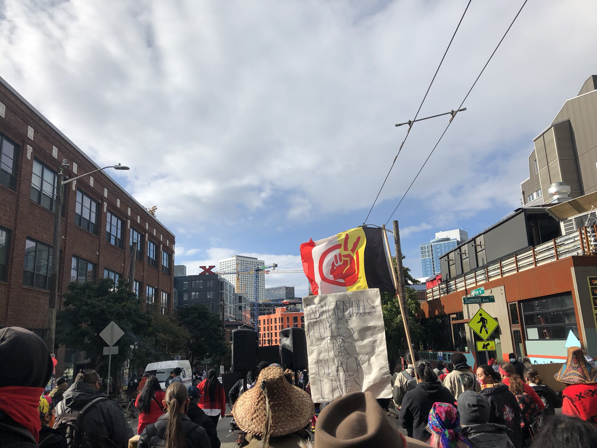 Protest in Seattle for Indigenous Black Lives