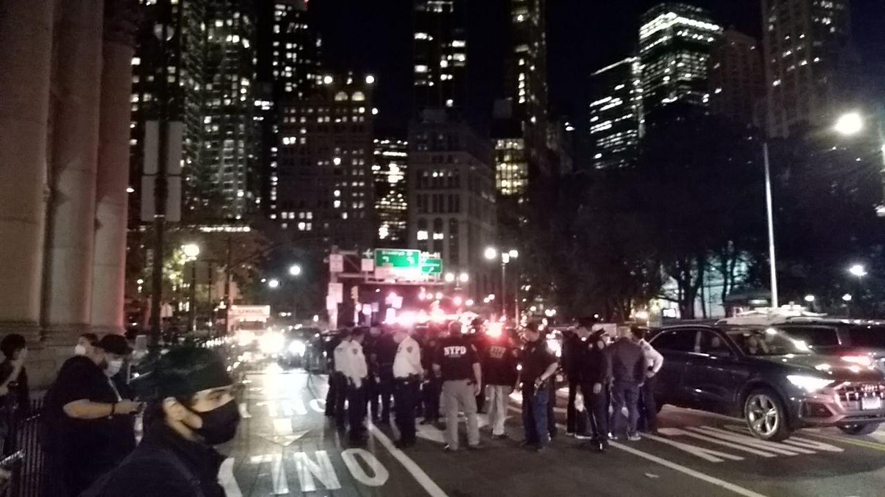 Demonstration in New York for Jonathan Price