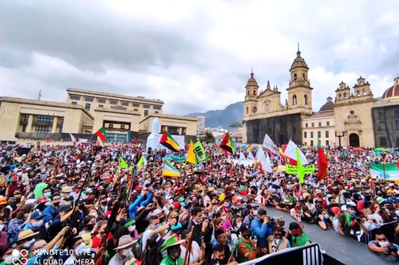 Tens of Thousands of Indigenous Colombians Take to the Streets
