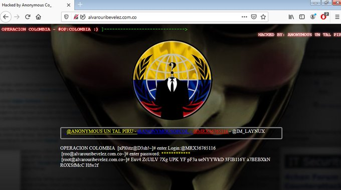 Cyberwar Waged By Anonymous Escalates in Colombia