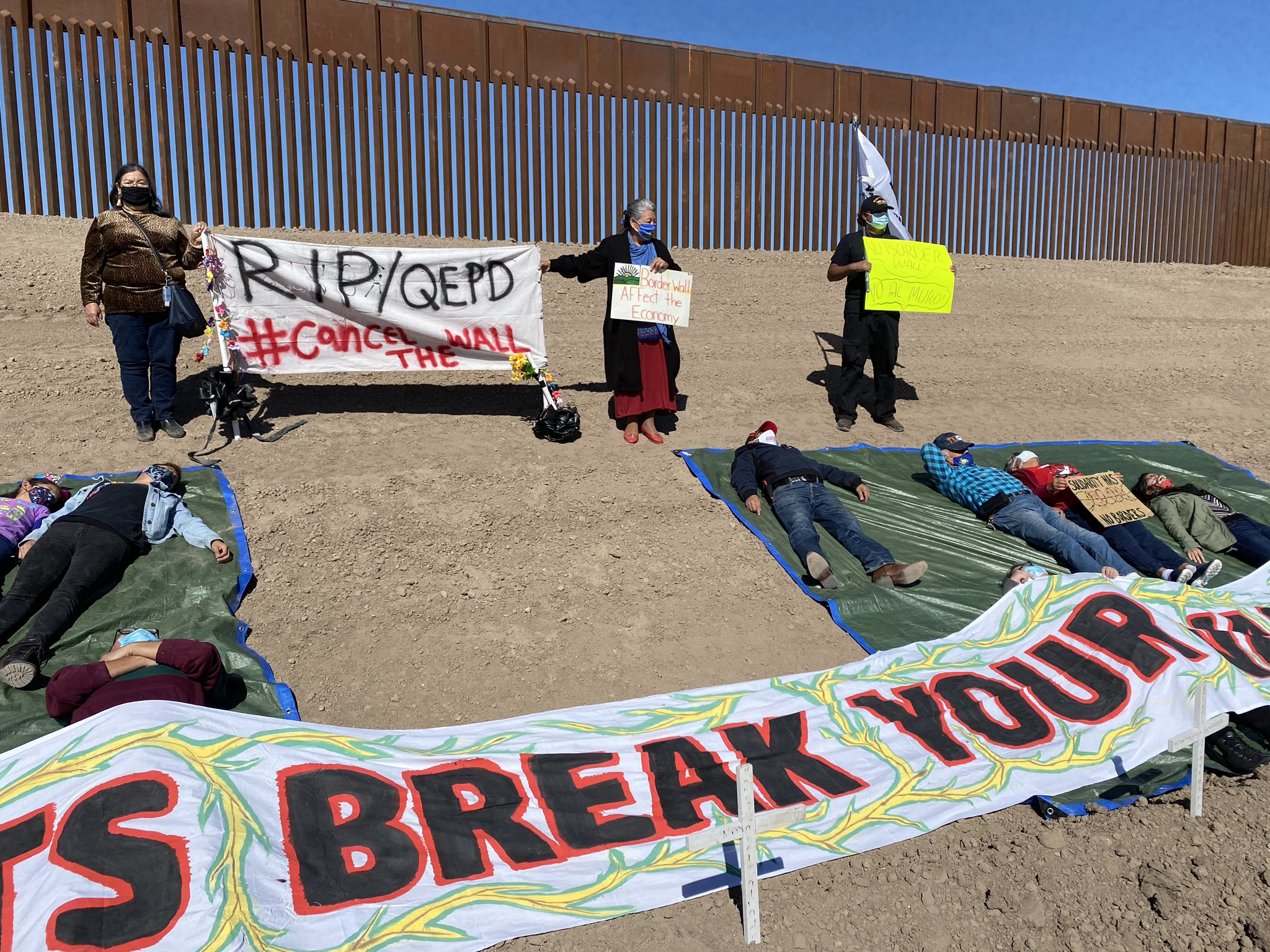 Anti-Border Wall Protest Takes Place in Rio Grande Valley