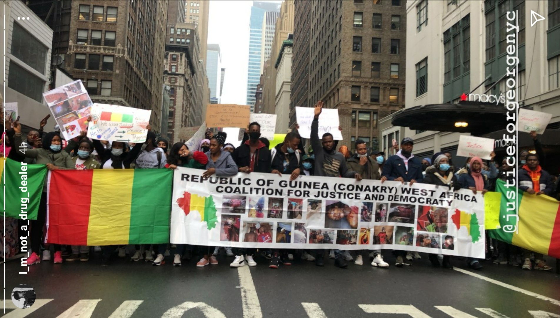 Protest in Manhattan in Solidarity With Guinea