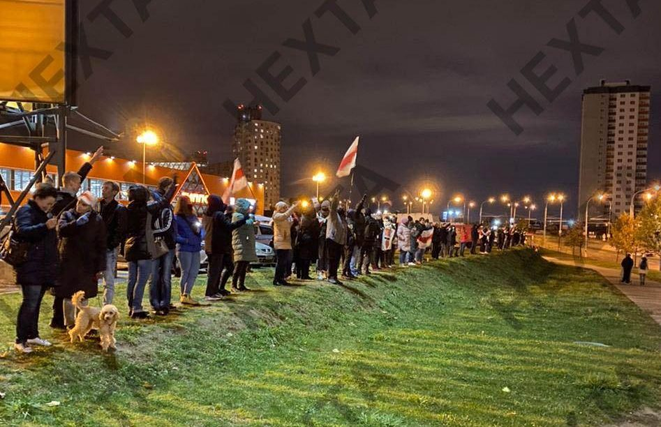 Night Marches Take Place All Over Minsk