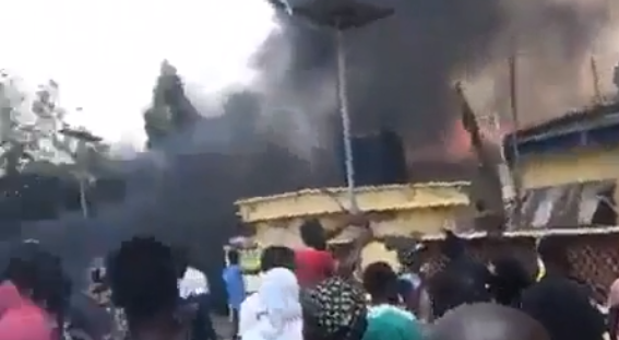 Demonstrators Burn Down Police Stations All Over Nigeria
