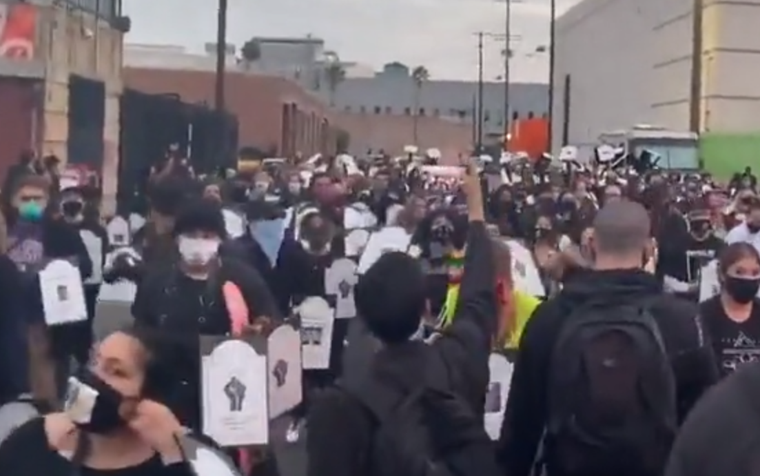 Defund LAPD Protest in Los Angeles
