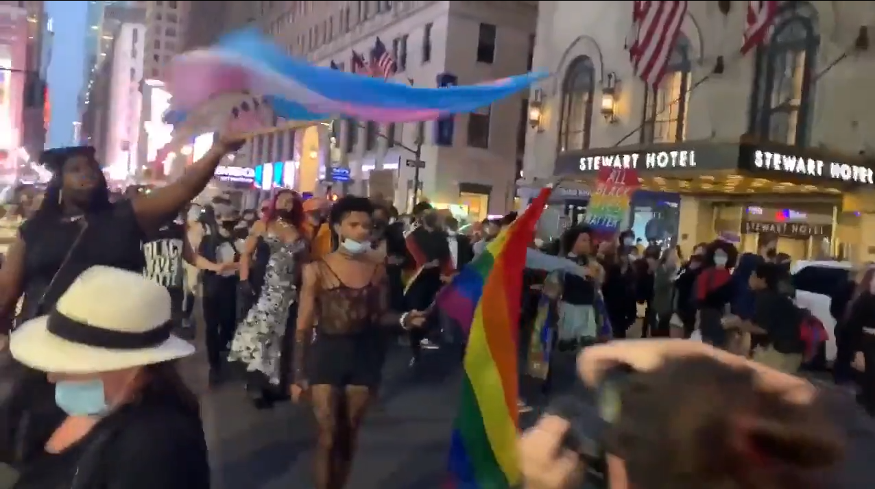 People's March for Roxanne Moore in New York