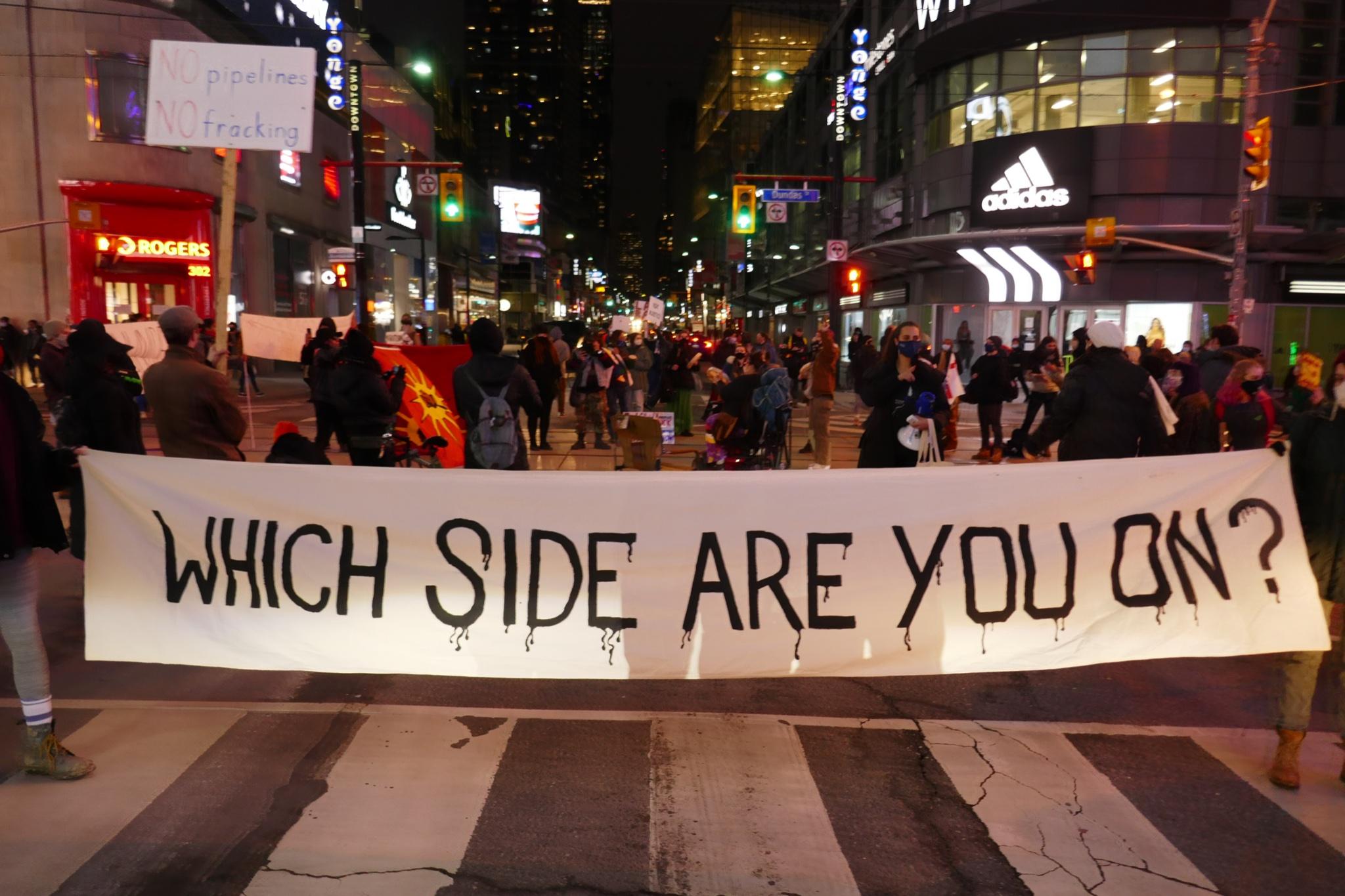 Shut Down Canada Protest in Ontario Blockades City Roads