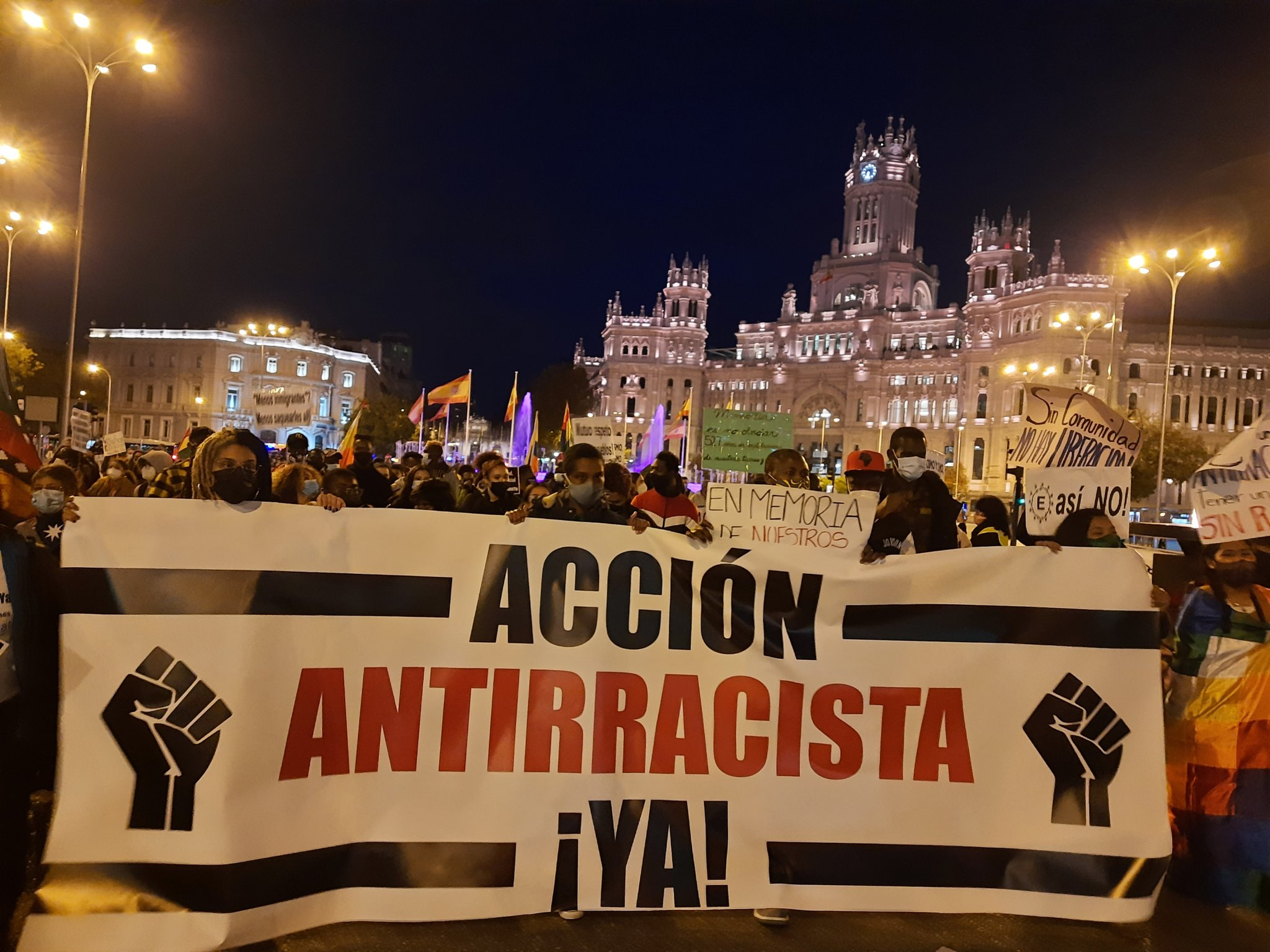 Madrid Protests Against Racism