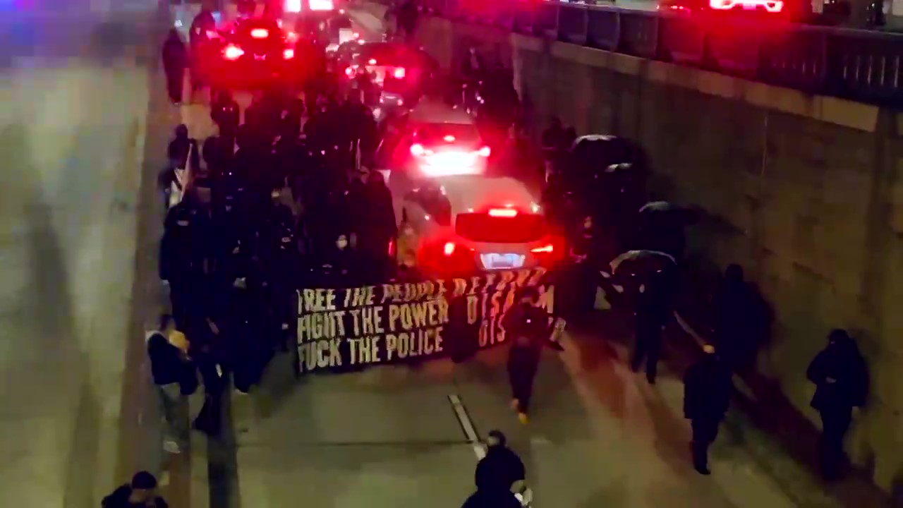 Anarchists Protest Against Police in Washington D.C.