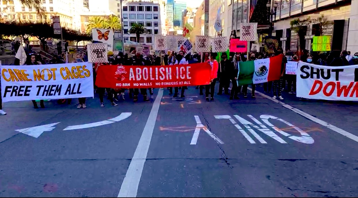 Protesters March to Abolish ICE in San Francisco