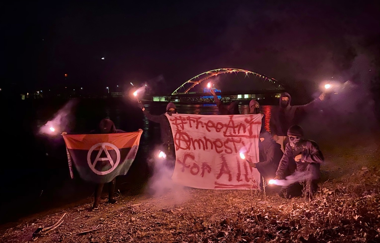 Rockford Black Anarchists Protest Against 'New COINTELPRO'