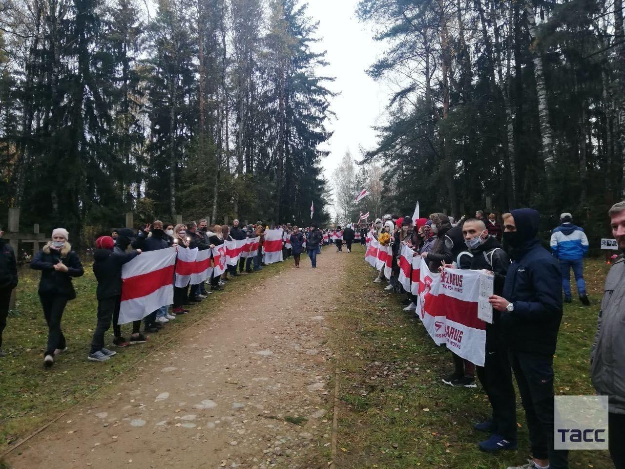 Protesters Hit the Streets of Minsk and Kurapaty in Belarus