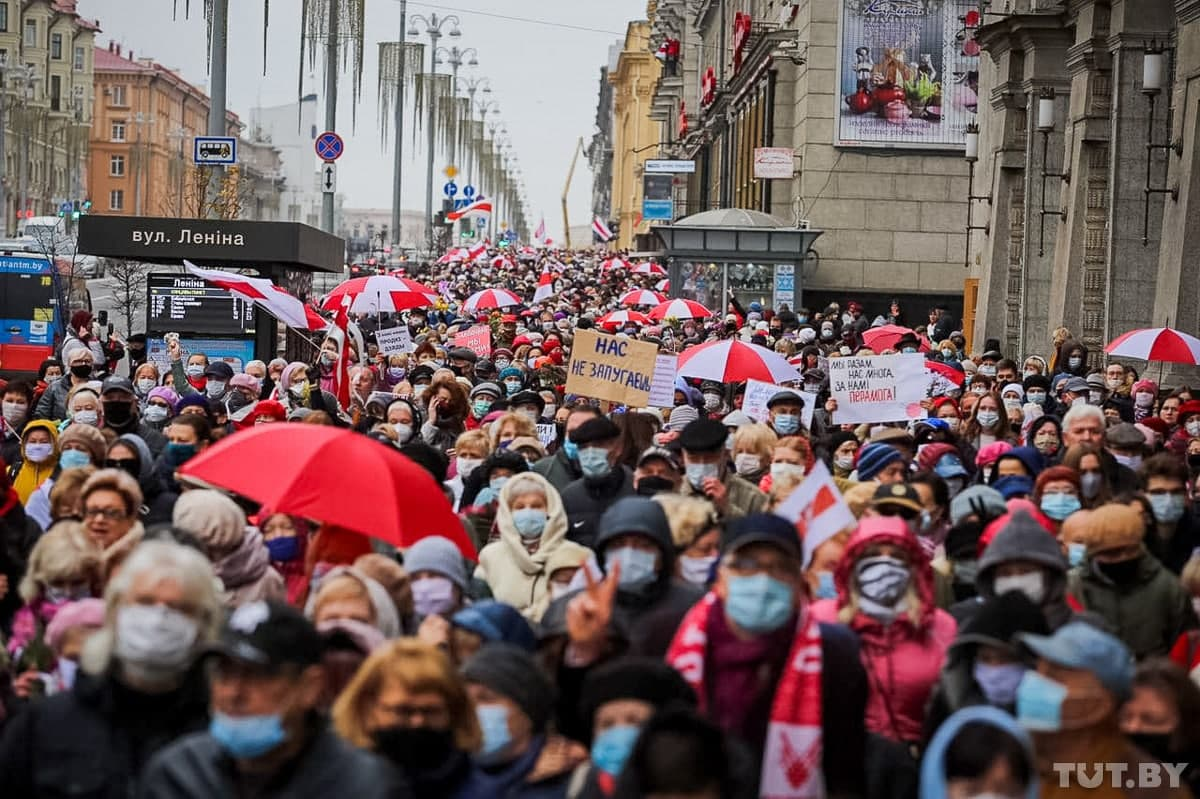 Seniors' March in Minsk Occurs Amid National Protests