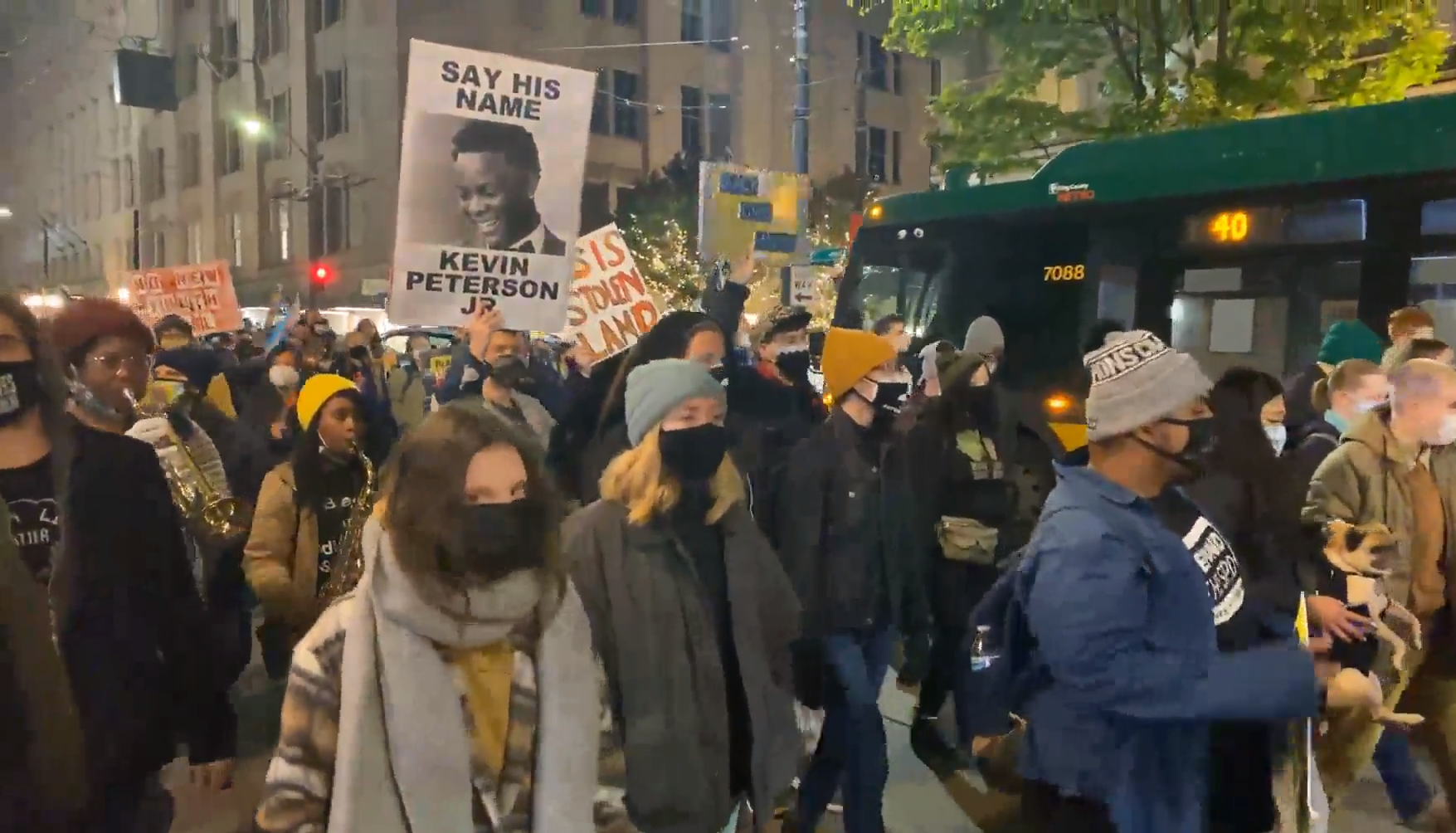 Post-Election BLM March in Seattle Takes Place