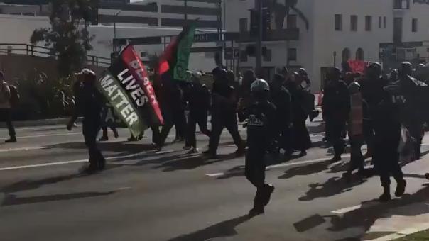 Antifascists Counterprotest Trump Beverly Hills Rally