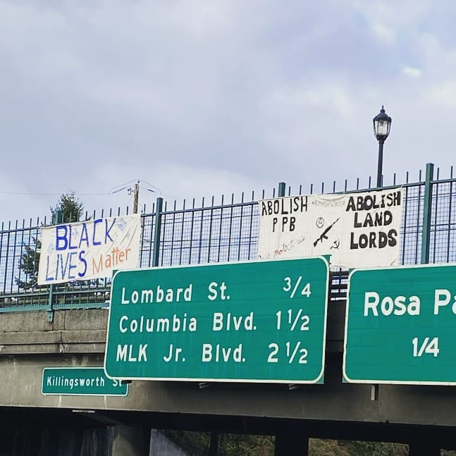 Hundreds of Black Lives Matter Activists in Portland Drop Banners