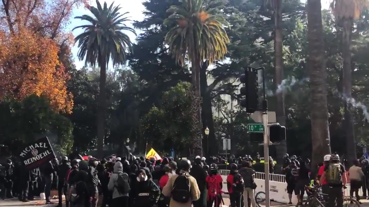 Antifascists Clash With Proud Boys and Police in Sacramanto