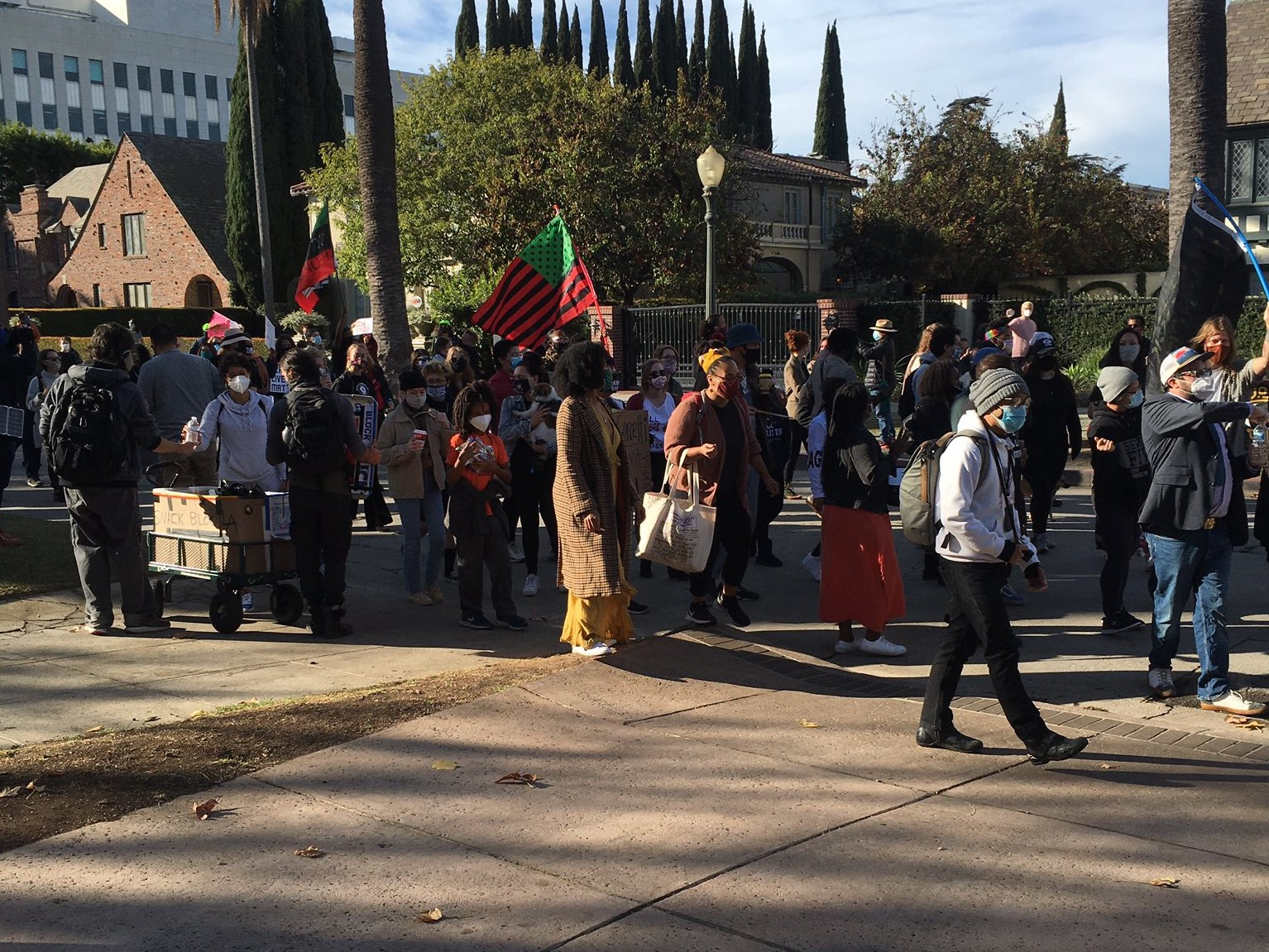 Protesters March on Los Angeles Mayor's Mansion on Day 20 of Protests