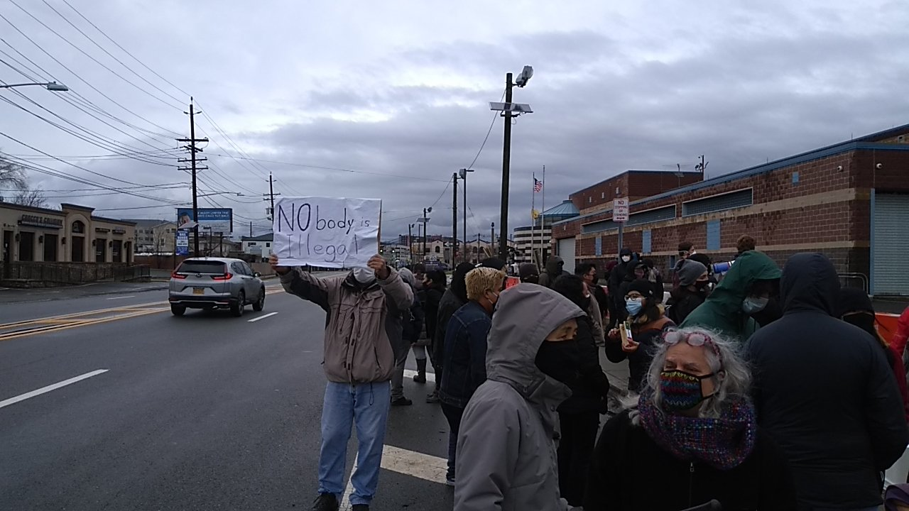 Ridgewood Protesters Gather in Support of ICE Detainees on Christmas Day