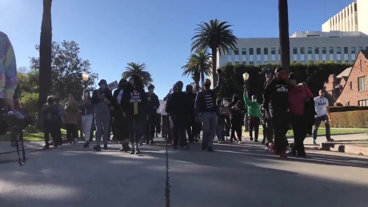 Los Angeles Activists Demonstrate Outside of Mayor's Mansion