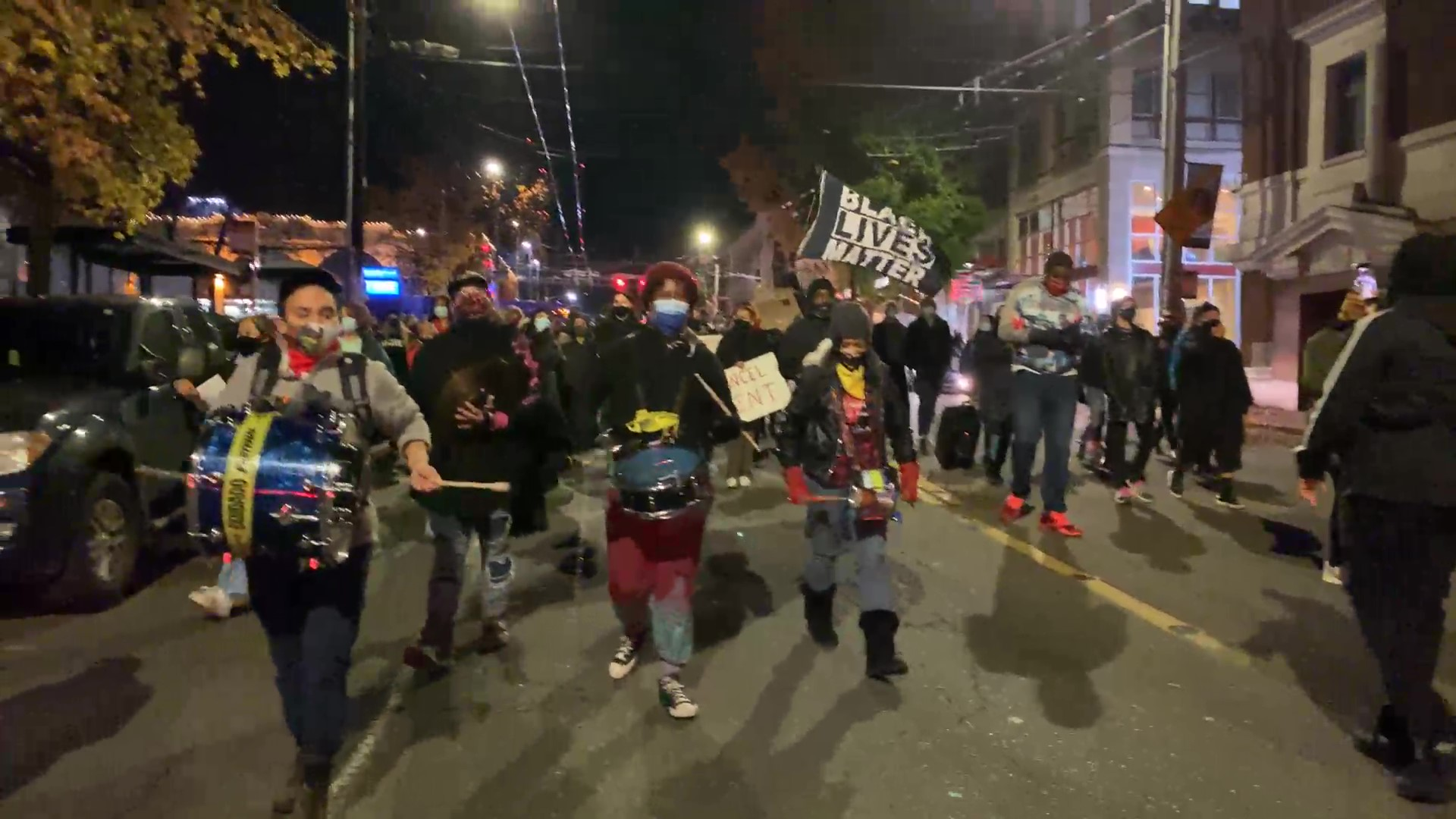 BLM Protesters in Seattle March to Cancel Rent