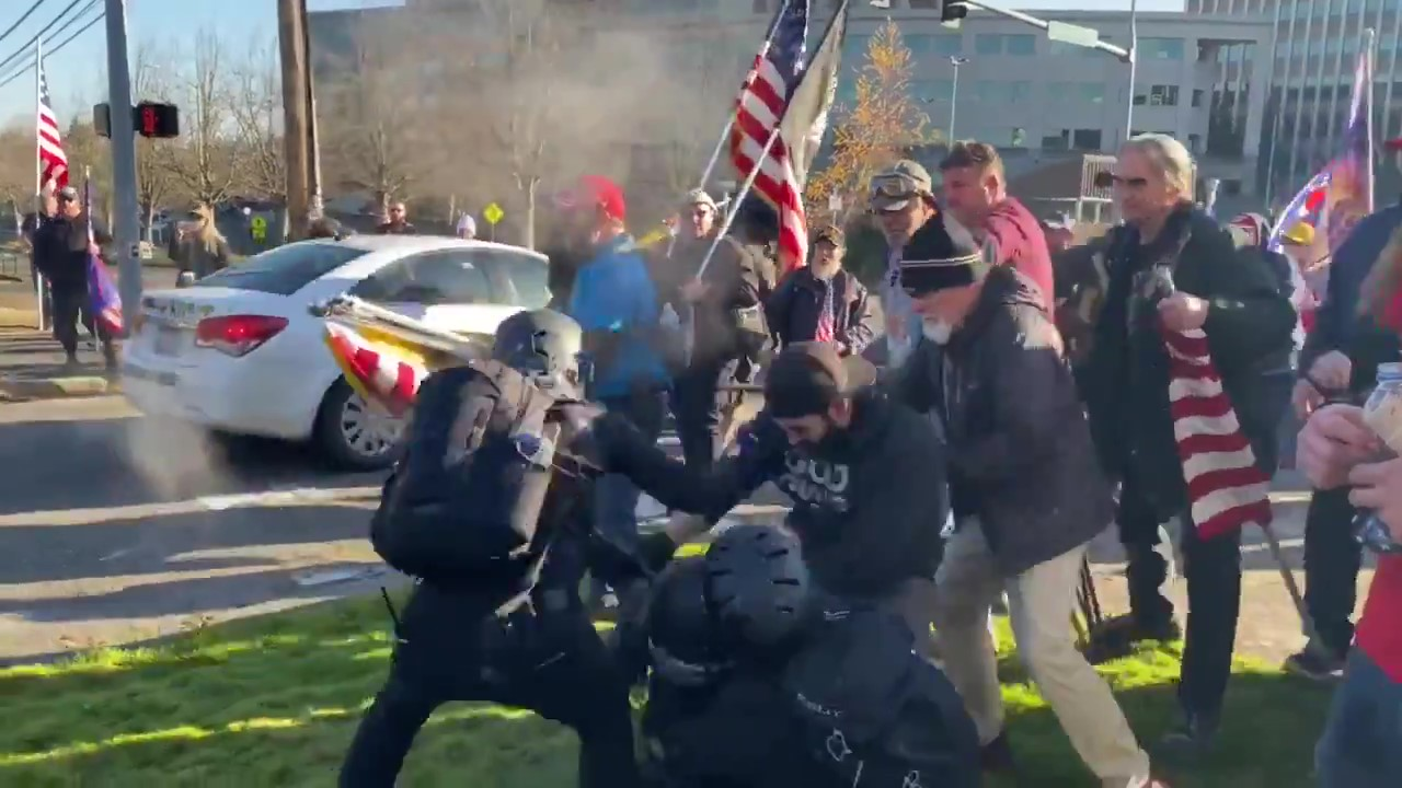 Proud Boys Attack Antifascists in Olympia