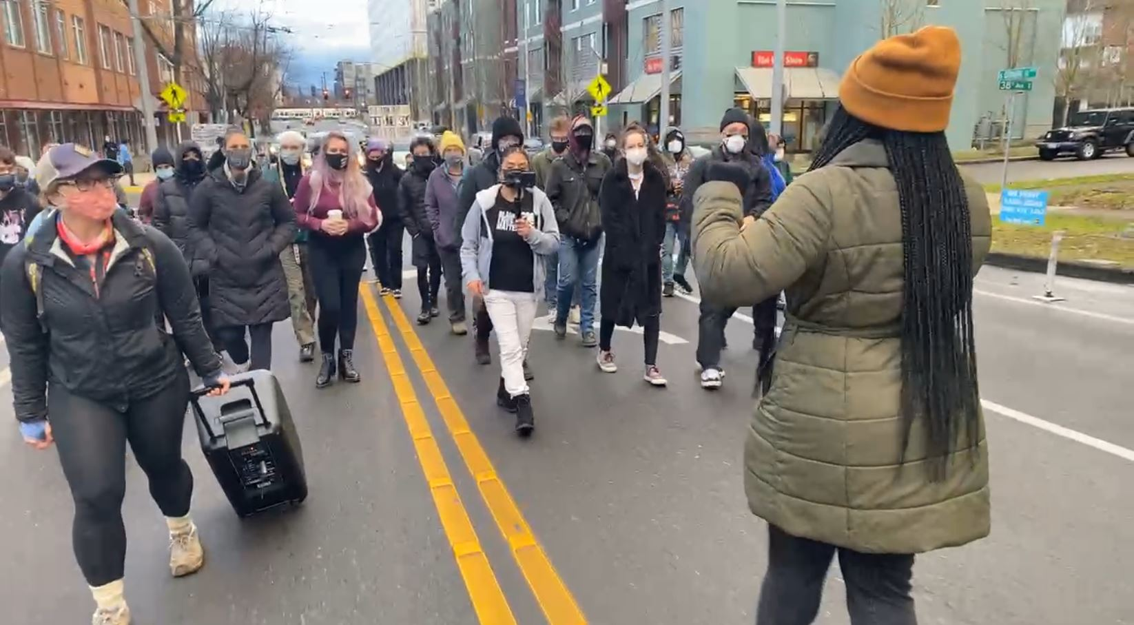 Dozens of Protesters in Seattle March for Black Lives