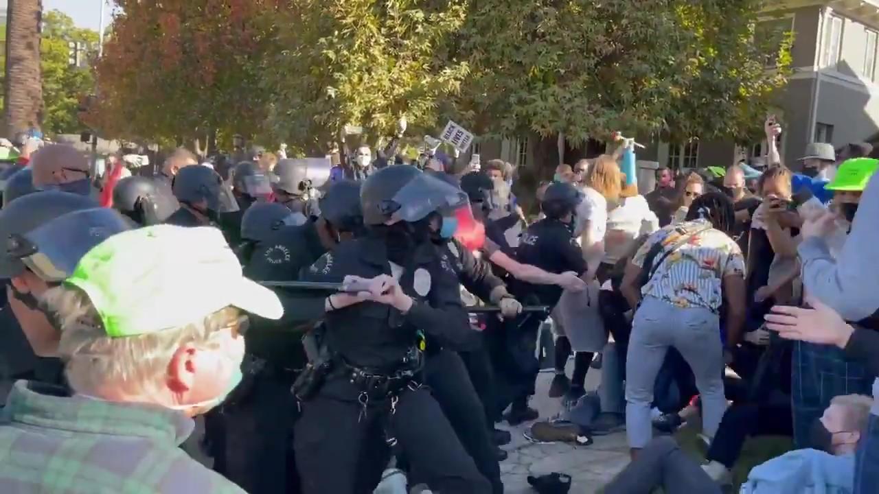 LAPD Attacks Block Garcetti Protest Day 13