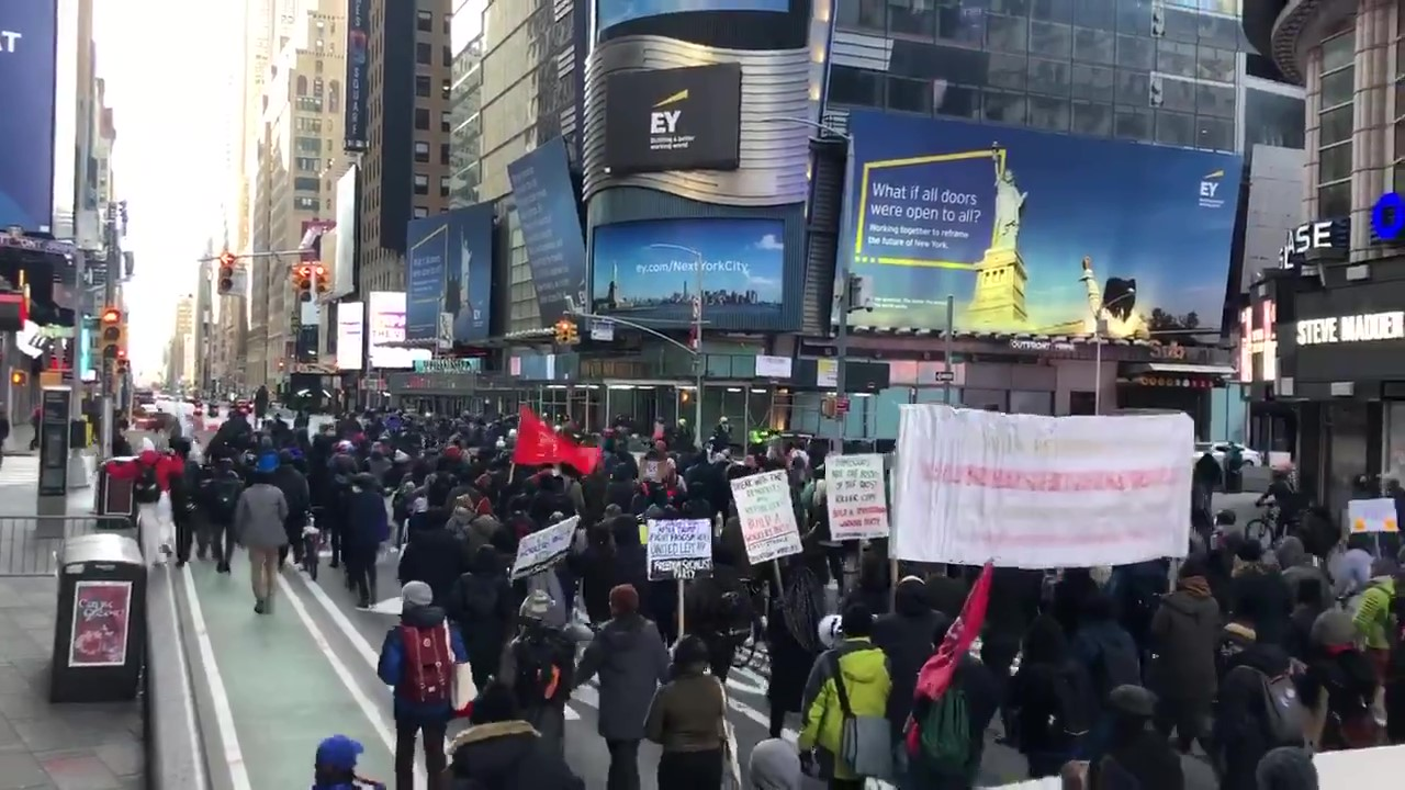 Antifascists in New York March Against Fascism and the Far Right
