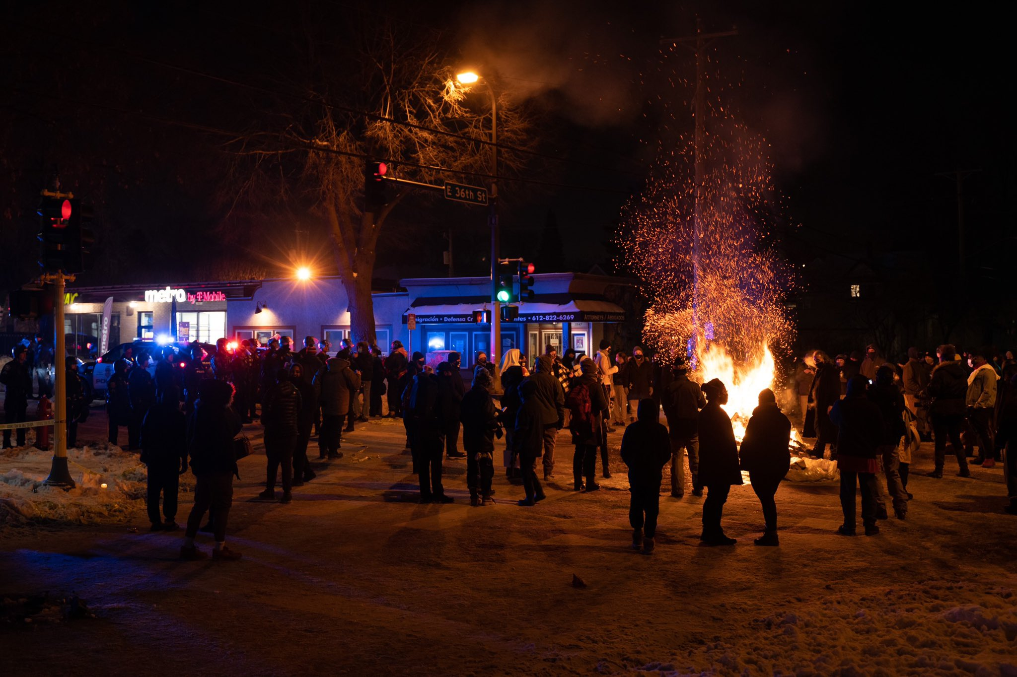 250 Protesters in Minneapolis Gather After Police Killing of Dolal Idd