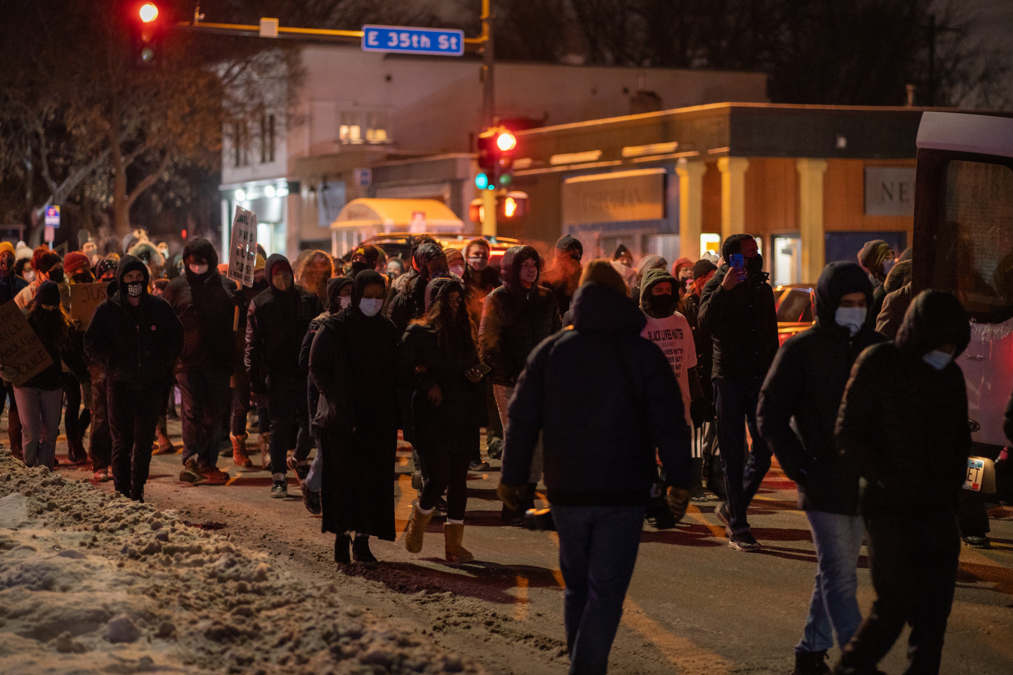 Protesters in Minneapolis March for Dolal Idd