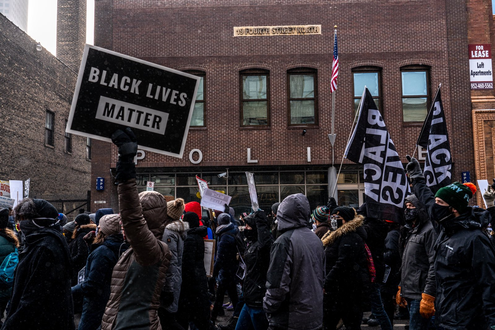 Hundreds Protest in Front of Minneapolis 1st Precinct for Dolal Idd & Jacob Blake