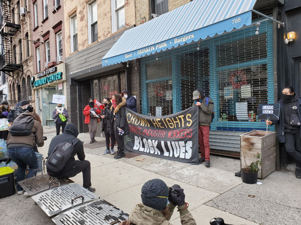 NYC Protesters March in Crown Heights Against ICE, Rent, and Police