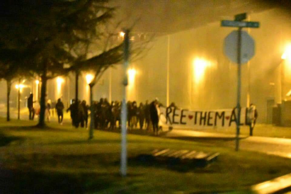 Abolitionists in Olympia Protest at Thurston County Jail for New Year's