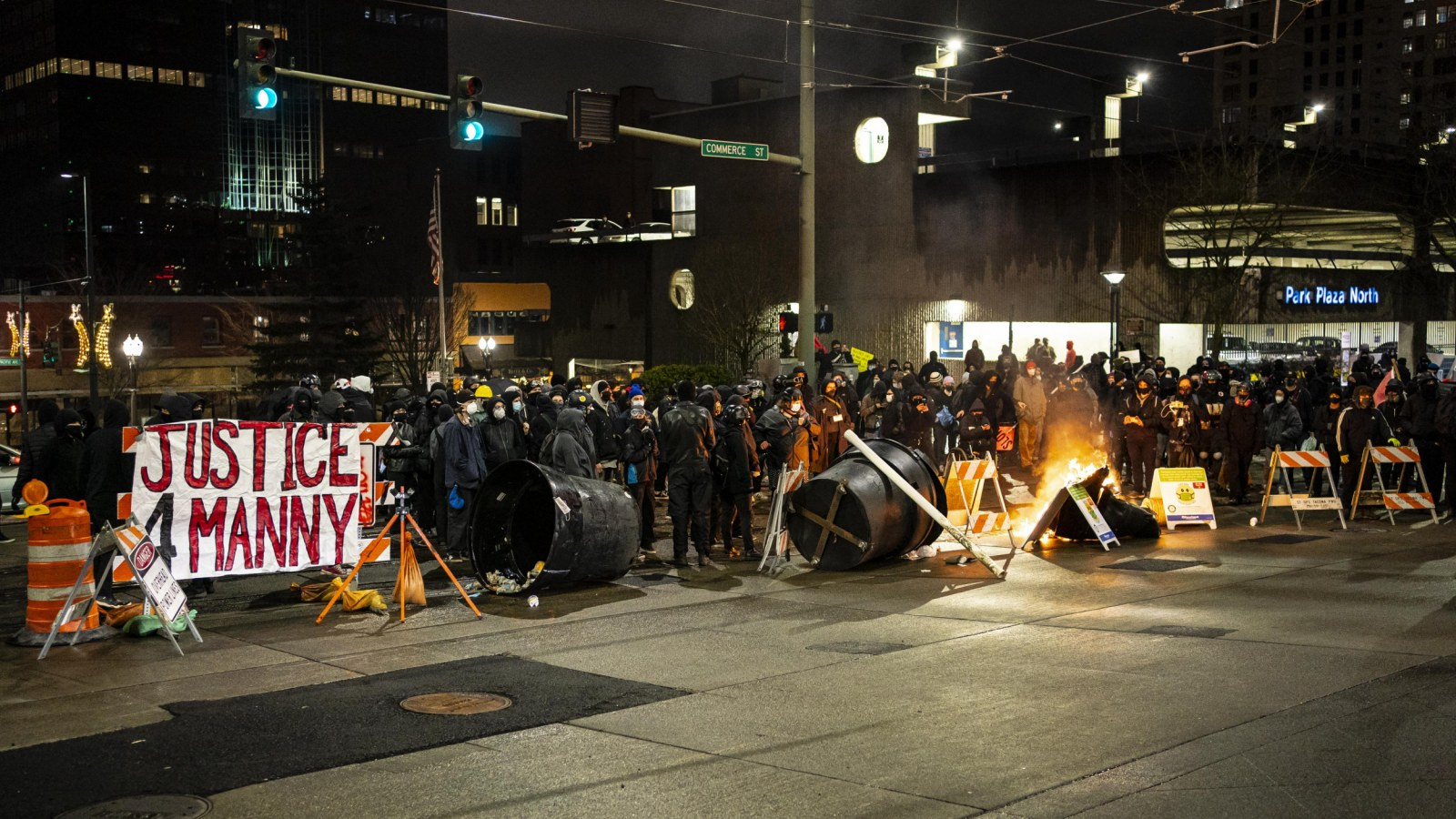 Abolitionists Protest in Tacoma After Police Run Over Crowd