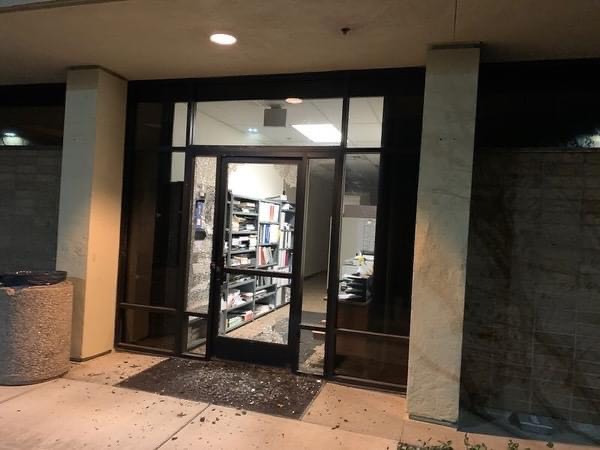 Protesters Smash in Police Station at Vacaville