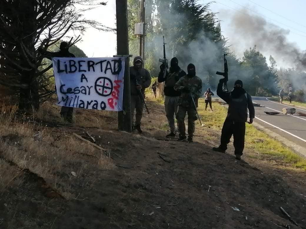 Mapuche Insurgents Seize P-70 Highway to Demand Freedom for Chilean Political Prisoner