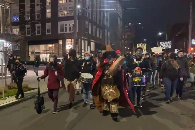 Black Action Coalition Marches Against Seattle Police
