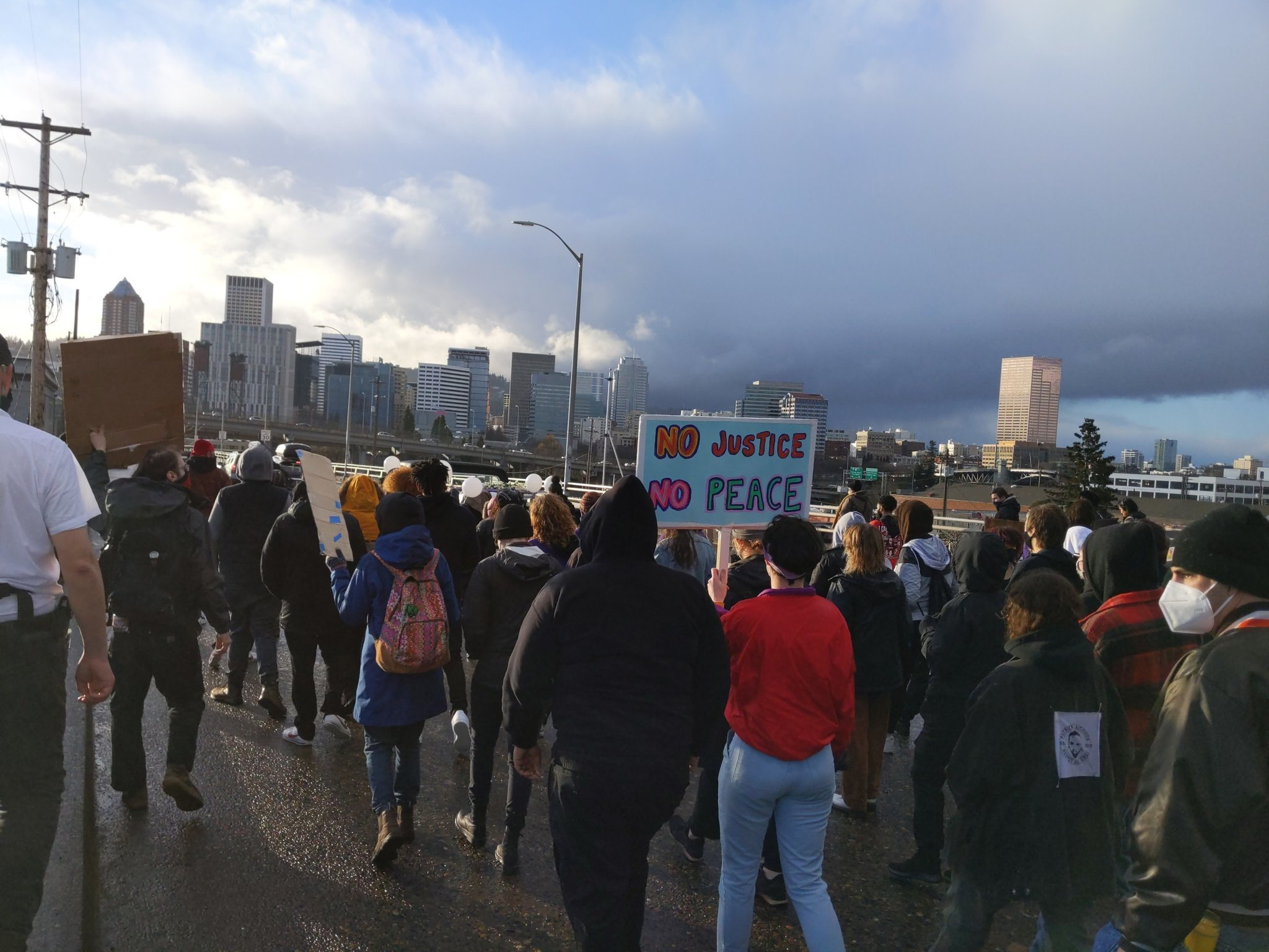 100+ Protesters in Portland March on Anniversary of Murder of Ahmaud Arbery