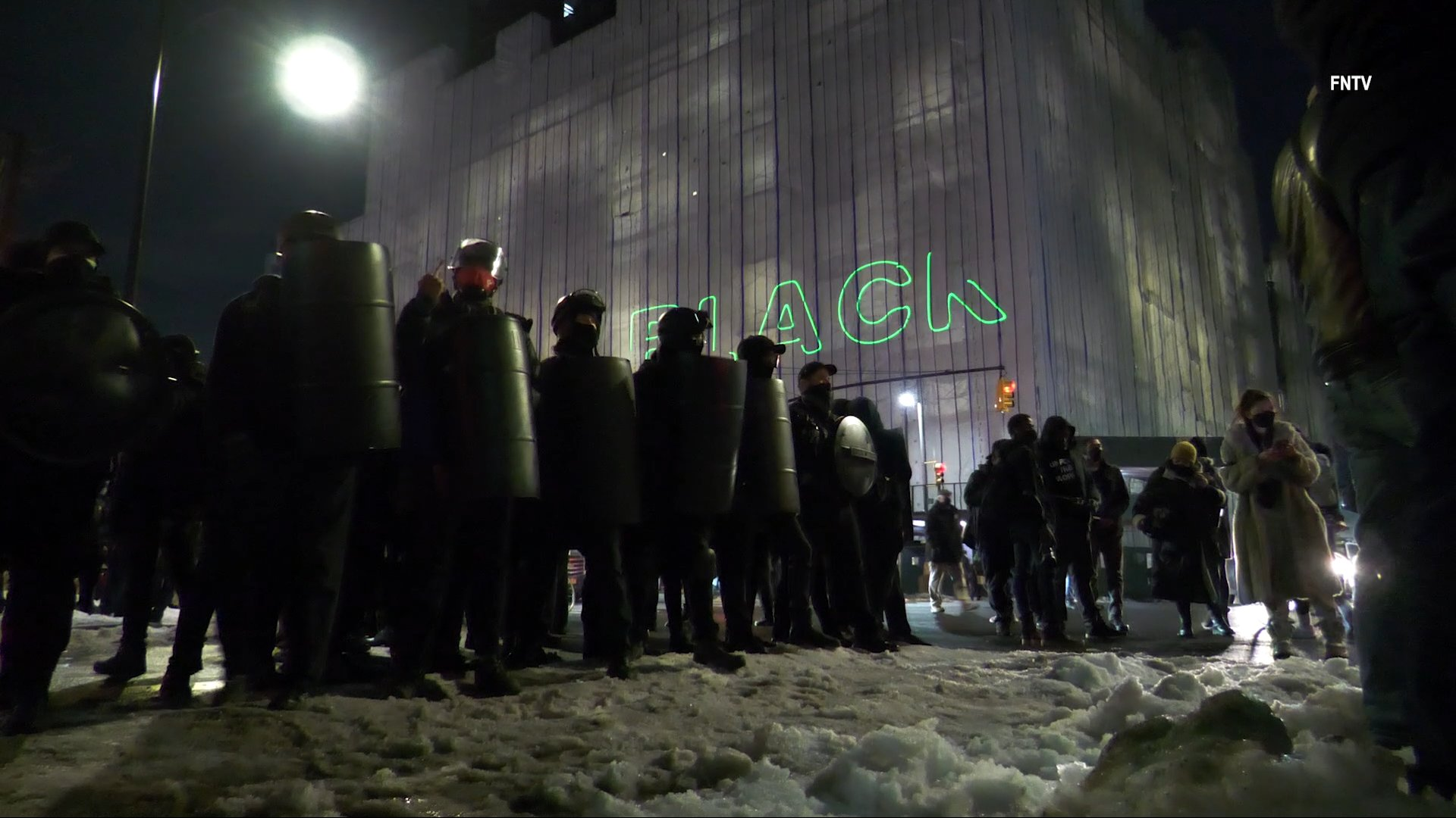 Anarchists in New York March on 84th Precinct After Maskless Police Officer Assaults Protester