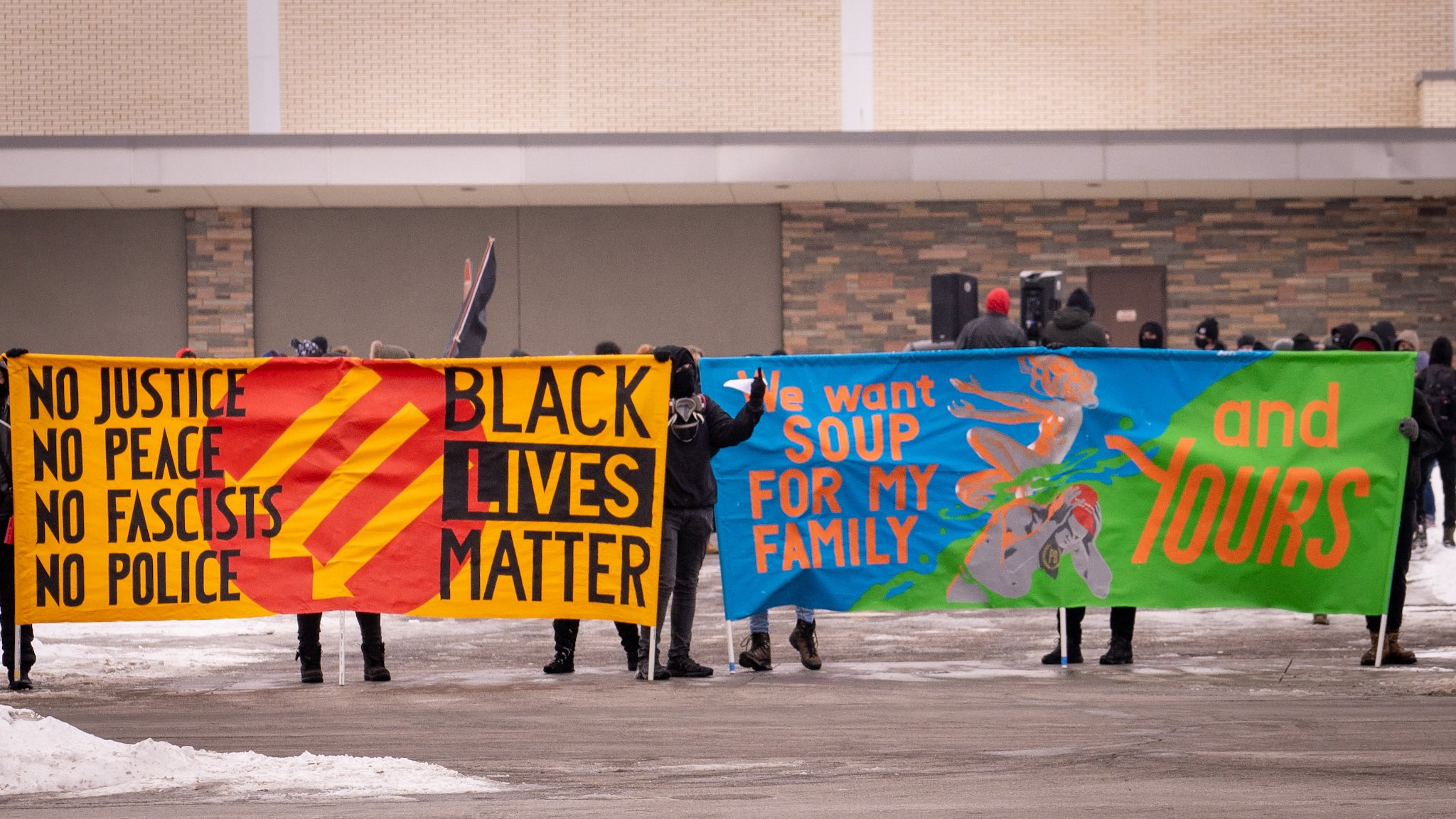 Dozens Gather in St. Paul to March Against Fascism in Protest-Response Training Center