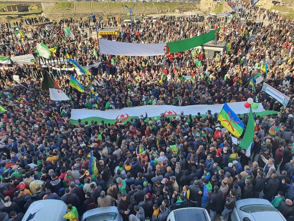 Thousands of Algerians in Kherrata Celebrate 2nd Anniversary of Hirak