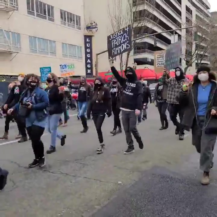 100+ Portland Protesters March for Justice for Patrick Kimmons