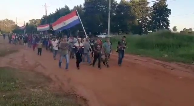 Indigenous Guaraní Protesters March in Caaguazú Against Government Corruption