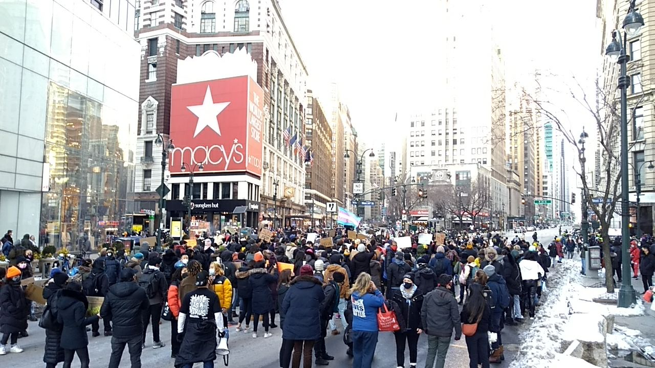 400+ Protesters in New York March Against Anti-Asian Racism and Violence