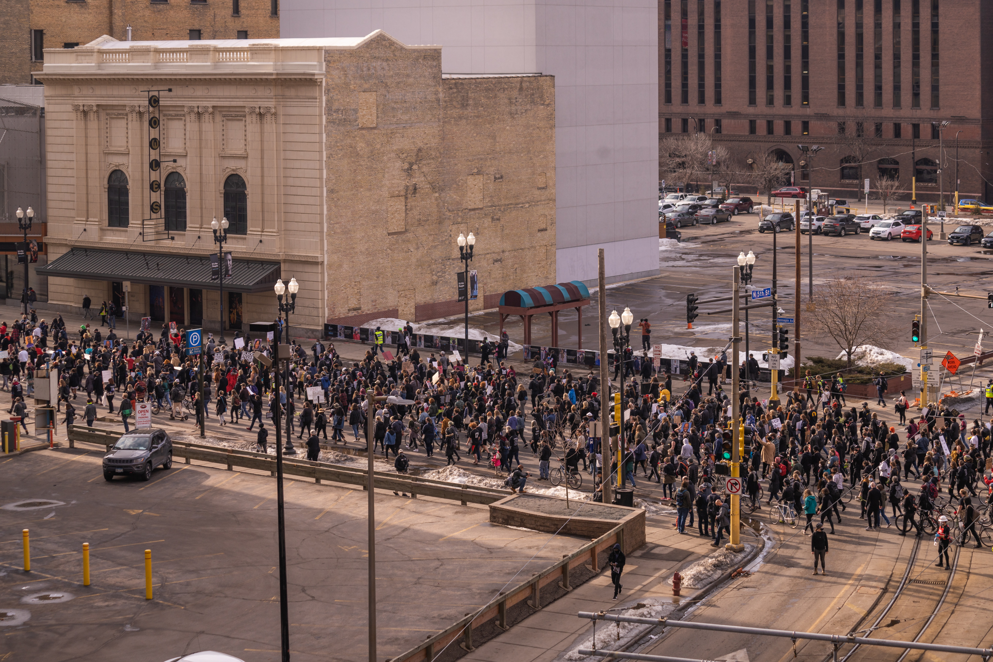 1000 Protesters March in Minneapolis Day Before Derek Chauvin Trial Begins