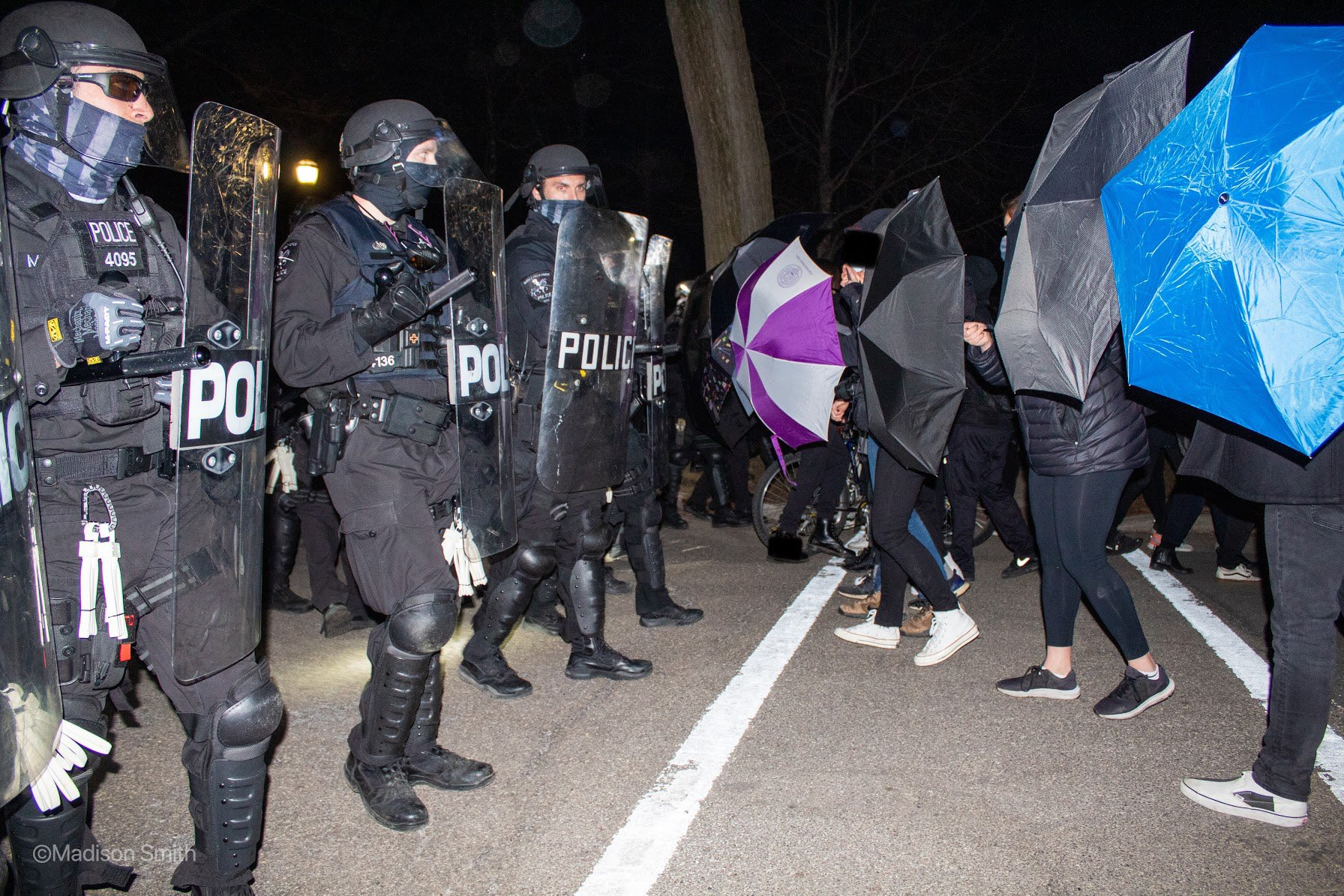 Heavily Armed Police Face Off With 150 Students in Chicago Suburb Demanding University Police Abolition