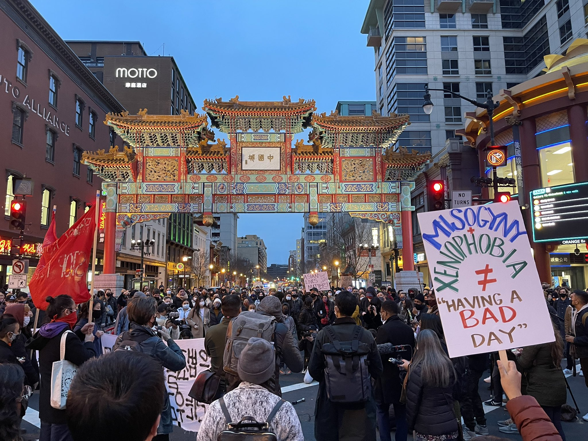Hundreds of Protesters in Washington D.C. March Against Asian-Targeted Violence